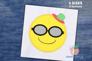 Sunglasses Emoji Applique