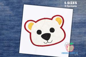 Baby Bear Face Applique Pattern
