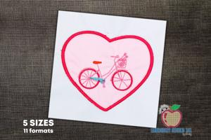 Love Bicycle Pattern Applique