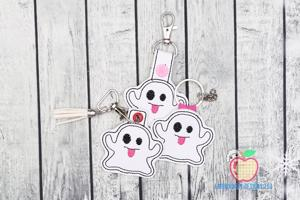 Halloween Ghost ITH Key Fob Pattern
