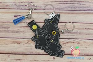 Halloween Witch ITH Key Fob Pattern