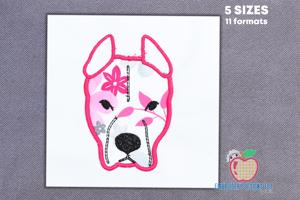 American Pit Bull Terrier Applique