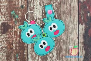Funny Blueberry Fruits ITH Keyfob Design