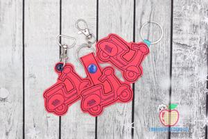 Scooter ITH Key Fob Pattern