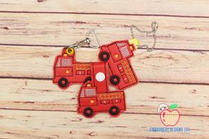 Fire engine ITH Key Fob Pattern