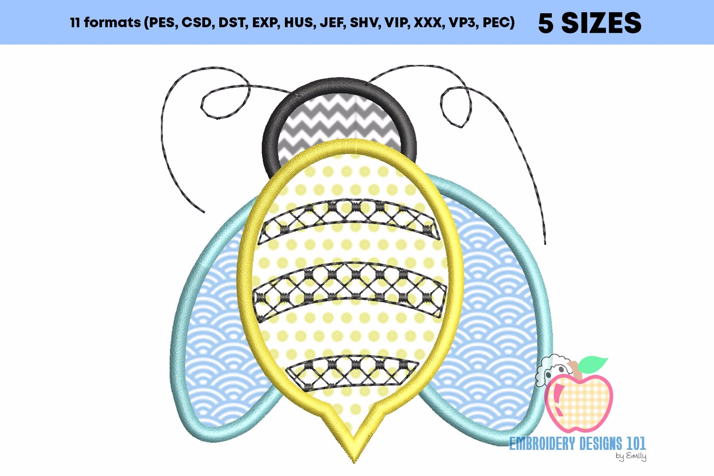 Bumble Bee Applique Pattern