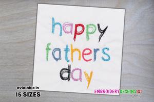 Colorful Fathers Day