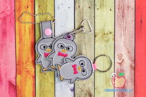 Cute Winter Penguin ITH Keyfob Design